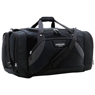 28 in. Black Multi-Pocket Sport Duffel (TPRC)