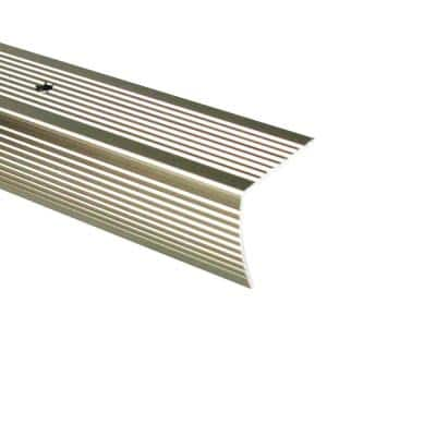 1.125 in. x 96 in. Metal Pewter Stair Edging