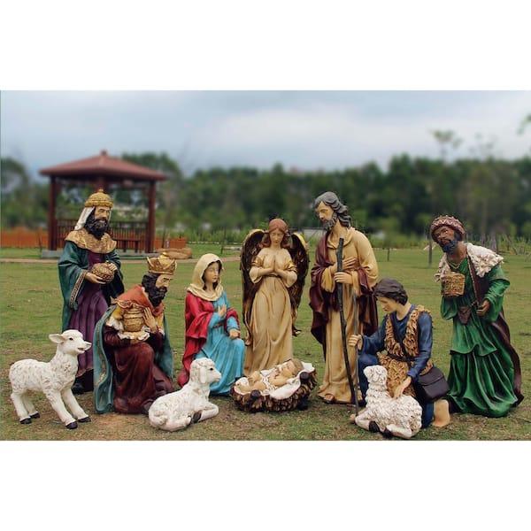 Burton And Burton 122420 Nativity Set with Woodland Moss Covered Creche