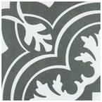 Take Home Tile Sample - Twenties Classic Encaustic Ceramic Floor and Wall Tile - 7-3/4 in. x 7-3/4 in.