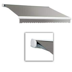 14 ft. Key West Full Cassette Left Motorized Retractable Awning (120 in. Projection) Gray