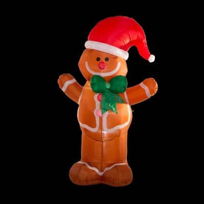 8 ft. Lighted Inflatable Gingerbread Man Decor