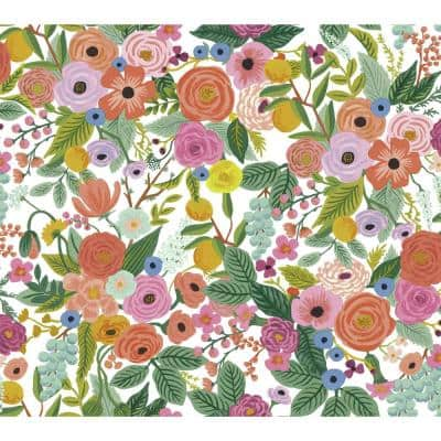 45 sq. ft. Garden Party Premium Peel and Stick Wallpaper
