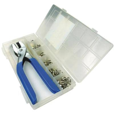 Nickel Plated Brass Snap Kit With Grip Tool (72-Piece)