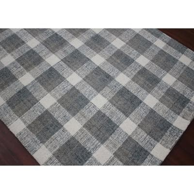 Plaid Wool Area Rugs Rugs The Home Depot