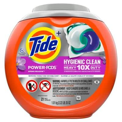 Power Pods Hygienic Clean Heavy Duty Spring Meadow Scent Laundry Detergent (21-Count)
