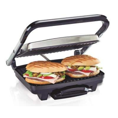 Stainless Steel Panini Press and Indoor Grill