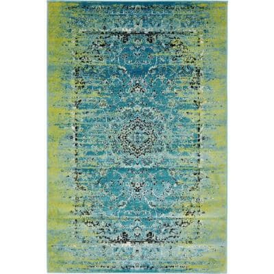 Imperial Sultan Blue 4' 0 x 6' 0 Area Rug