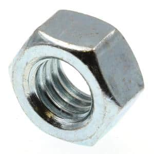 7/16 in.-14 A563 Grade A Zinc Plated Steel Finished Hex Nuts (50-Pack)