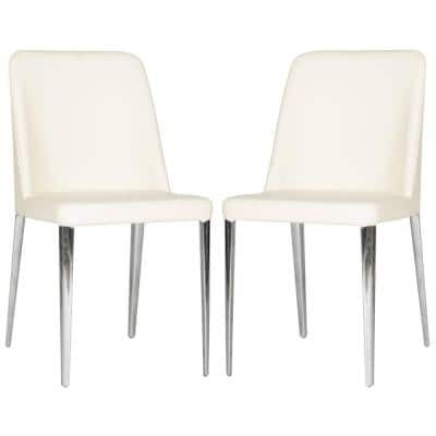 Baltic Buttercream Bicast Leather Dining Chair (Set of 2)