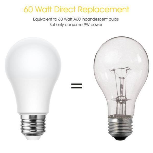 Yansun Ul Listed 60 Watt Equivalent A19 9w Led Light Bulb E26 Base In Warm White 3000k 6 Pack H Xp06502w6e26 6 The Home Depot