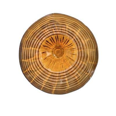 Amber 12 in. Wall Art Decor with Hand Blown Art Glass Style