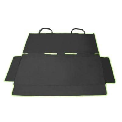 Black Open Road Mess-Free Back Seat Safety Car Seat Cover