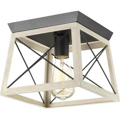 """Briarwood Collection One-Light 9-1/2"""" Flush Mount"""