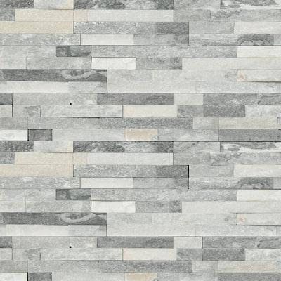 Alaska Gray Ledger Panel 6 in. x 24 in. Natural Marble Wall Tile (10 cases / 60 sq. ft. / pallet)