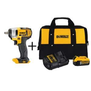 20-Volt MAX Cordless 3/8 in. Impact Wrench Kit with Hog Ring, (1) 20-Volt 5.0Ah Battery & Charger
