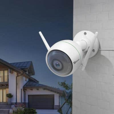 1080p Wi-Fi Outdoor Surveillance Camera with 100 ft. Night Vision Weatherproof, Smart Motion Detection