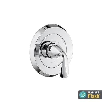 Fluent 1-Handle Valve Trim Kit for Flash Rough-In Valves in Polished Chrome (Valve Not Included)