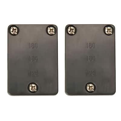 Low-Voltage Landscape Lighting Cable Connectors (2-Pack)