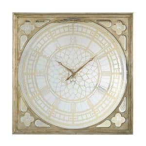 Arria Square Gold, Silver Oversized Wall Clock
