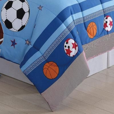 Blue Sports Comforter Set