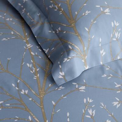 Company Cotton Thistle Blue Bamboo Sateen Sham