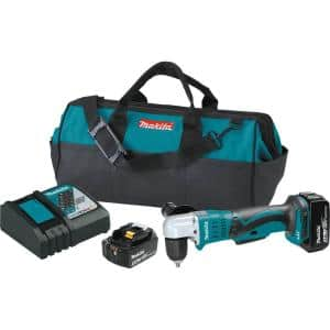 18-Volt LXT Lithium-Ion 3/8 in. Cordless Angle Drill Kit with (2) Batteries 3.0Ah, Charger, Tool Bag