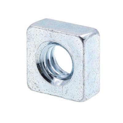 1/4 in.-20 Zinc Plated Steel Square Nuts (25-Pack)
