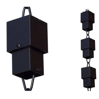 Monarch 8.5 ft Black Aluminum Multi Cube Rain Chain