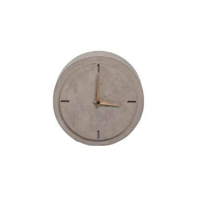 Modern Concrete Battery Operated Table Clock