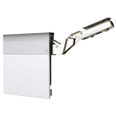 Silk White/Dust Gray 107° Lift-Up Hinge Air System, Light-Duty Soft-Close Vertical Opening Hinge (1-Pair)