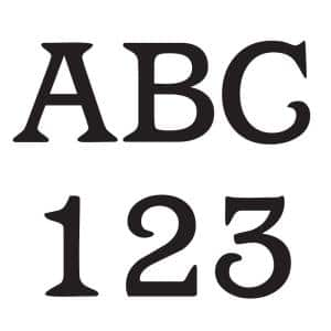 3 in. Vinyl Letters and Numbers Kit