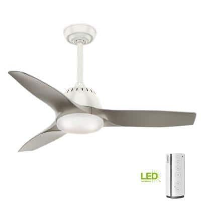Wisp 44 in. LED Indoor Fresh White Ceiling Fan with Remote Control