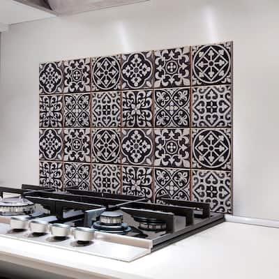 Black Tiles Azulejos Kitchen Panel Wall Decal