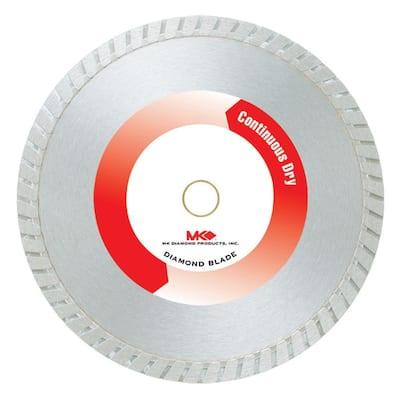 4 in. Economy Grade Dry Cutting Continuous Rim General Purpose Diamond Blade.