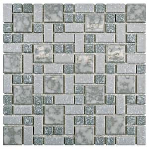 University Light Grey 11-3/4 in. x 11-3/4 in. x 5 mm Porcelain Mosaic Tile (9.8 sq. ft. / case)
