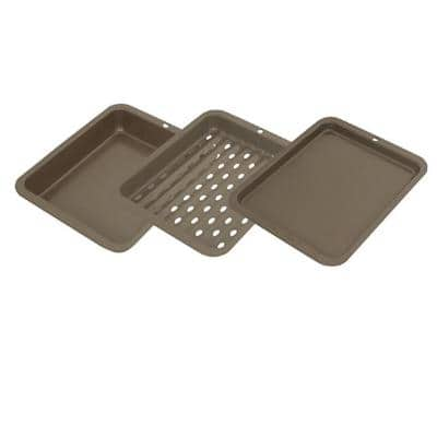 8 in. x 10 in. (Outer Dimension) Non-Stick 3-Piece Bakeware Set
