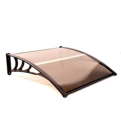 3.3 ft. Polycarbonate Outdoor Window/Door Awning in Brown