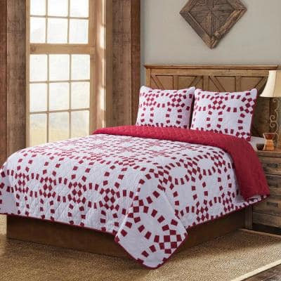 Holiday Ring 3-Piece King Quilt Set
