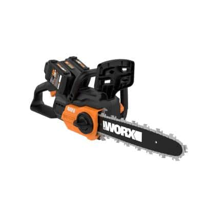 POWER SHARE 40-Volt 12 in. Cordless Chainsaw w/ Auto-Tension and Brushless Motor (Batteries 2x20V and Charger Included)