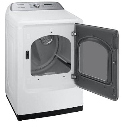 7.4 cu. ft. White Gas Dryer with Steam Sanitize+