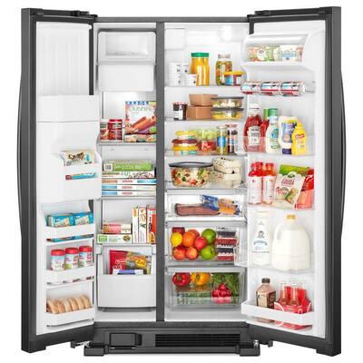 21 cu. ft. Side by Side Refrigerator in Black