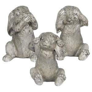 No Evil Bunnies Garden Statue (3-Pack)