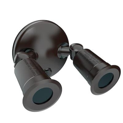 Twin-Head Bronze Outdoor Mountable Flood Light for Outdoor Security Lighting