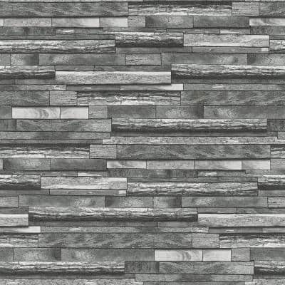 Federico Grey Slate Strippable Wallpaper Covers 57.5 sq. ft.