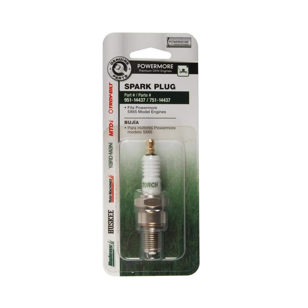 MTD Genuine Factory Parts Spark Plug for Troy-Bilt 140cc, 159cc and 196cc Premium OHV Engines OE# 951-14437 or 751-14437