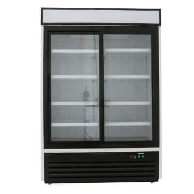 X-Series 48 cu. ft. Double Sliding Door Merchandiser Refrigerator in White