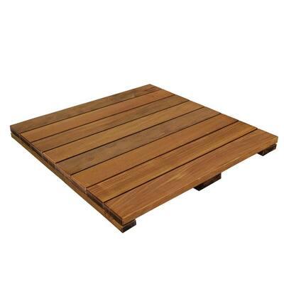 WiseTile 2 ft. x 2 ft. Solid Hardwood Deck Tile in Exotic Ipe