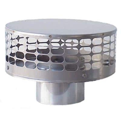 Guard Liner Top 5 in. Round Fixed Stainless Steel Chimney Cap