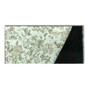 Reflections Antique Silver Subway 3 in. x 6 in. Glass Mirror Peel and Stick Wall Tile (11 sq. ft./Case)